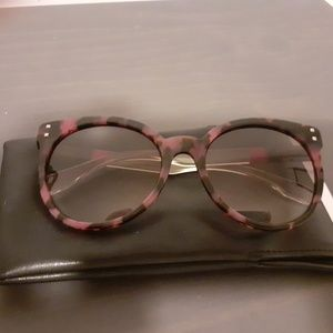 Authentic Fendi Pink and Brown Tortoise Sunglasses